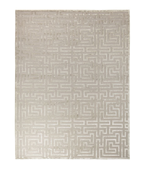 Silver Trellis Rug, 8' x 10'