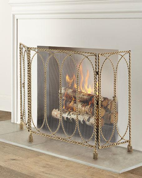 Swag & Tassel Fireplace Screen