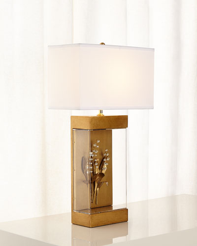 Lily-of-the-Valley Gilded Lamp