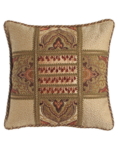 Dian Austin Couture Home Mediterrane Patch Pillow with