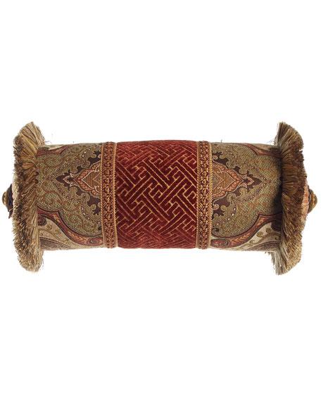 "Mediterrane Neckroll Pillow, 8"" x 19"""