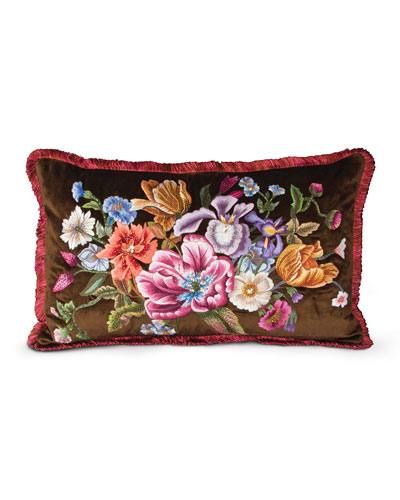 "Dutch Floral Pillow, 26"" x 16"""