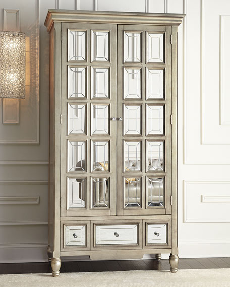 Neimanmarcus Brielle Mirrored Cabinet