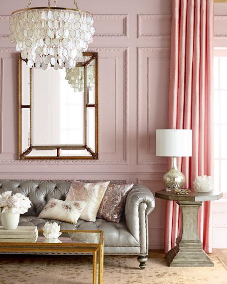 Morgan Gray Chesterfield Leather Sofa