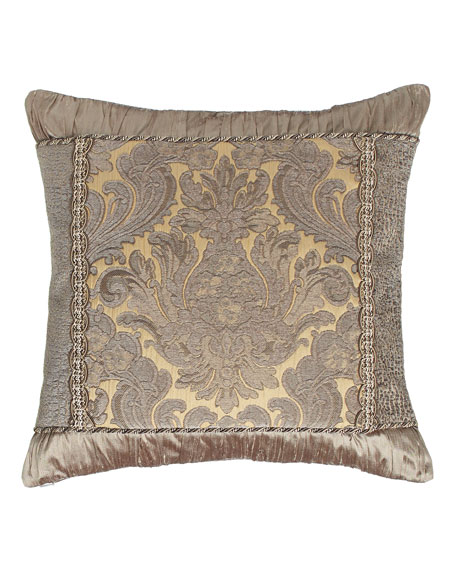 "Winter Twilight Damask-Center Pillow, 19""Sq."