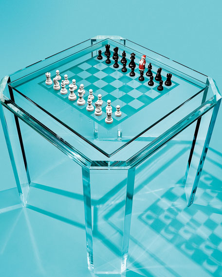 interlude home miranda acrylic game table