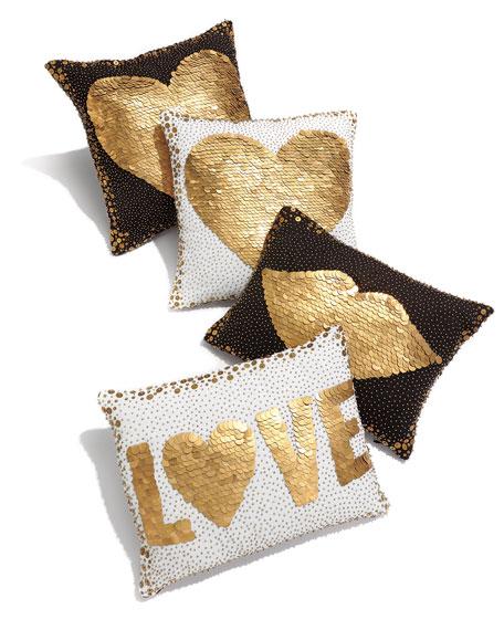 Black Heart Pillow