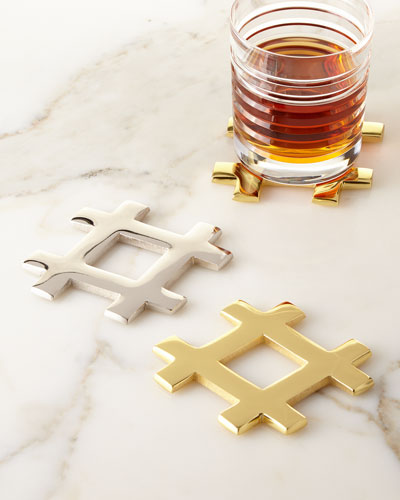 Hashtag Coasters, Set of 4