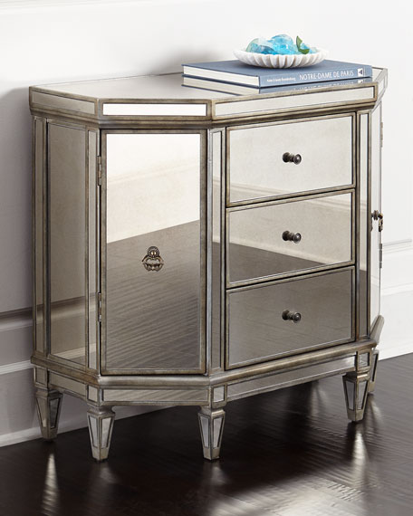 Neimanmarcus Reiley Mirrored Cabinet