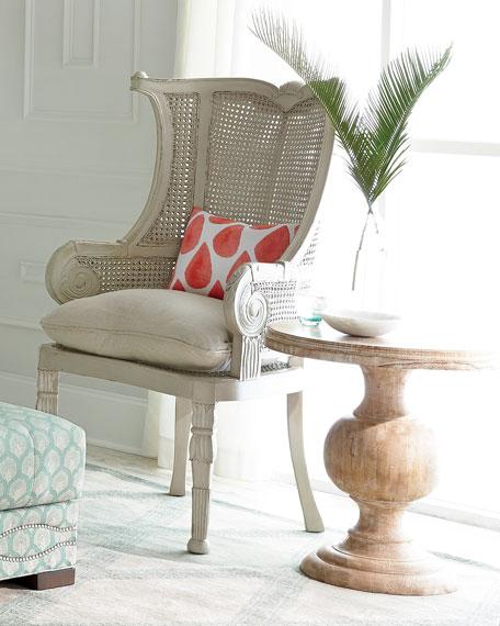 Cypris Cane Chairs, Pair