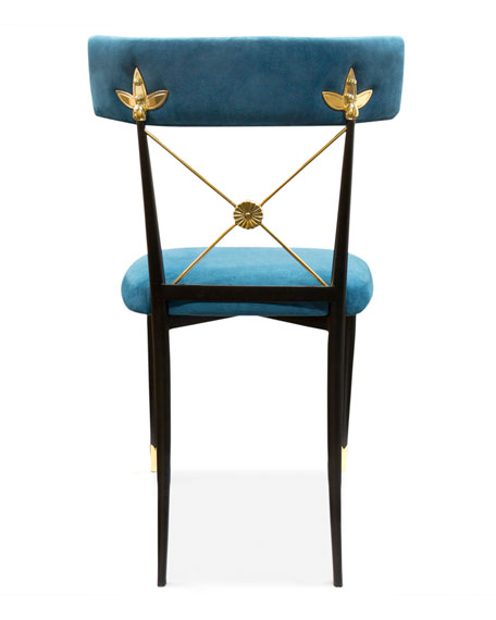 Image 3 of 3: Rider Blue Dining Chair