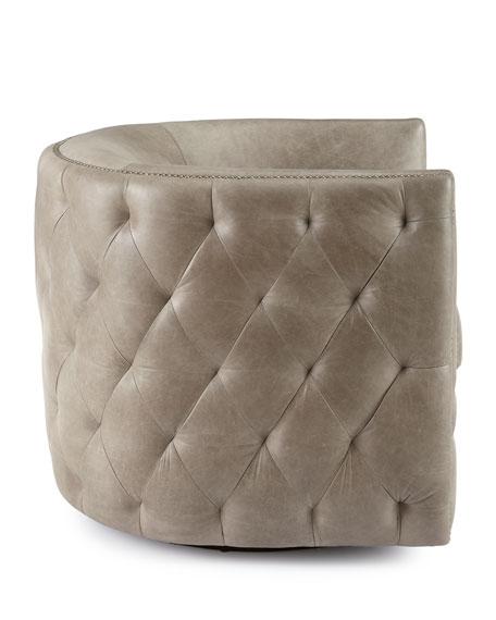 Abriola Leather Swivel Chair