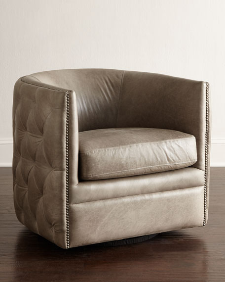 Bernhardt Abriola Leather Swivel Chair