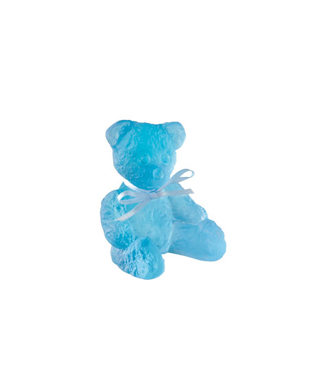 Daum Mini Blue Doudours Teddy Bear