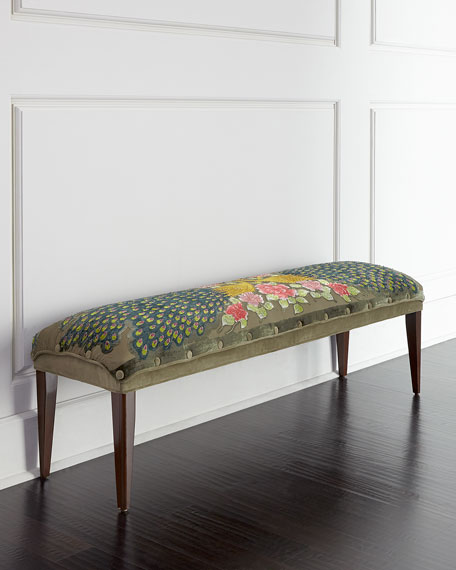 Long Peacock Bench