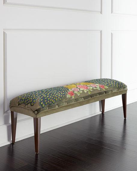 Haute House Long Peacock Bench