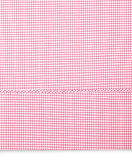Queen Gingham Flat Sheet