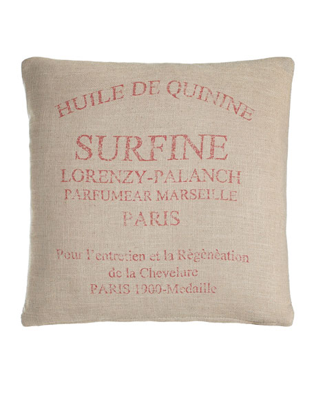 French Laundry Home Natural Pillow, 20