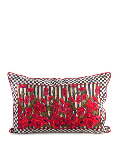 MacKenzie-Childs Poppy Garden Lumbar Pillow, 28