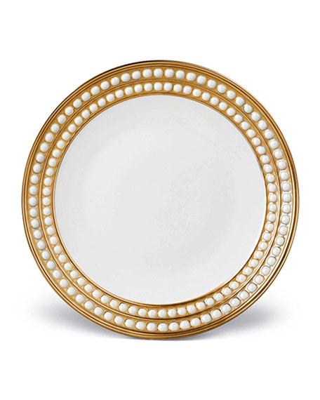 L'Objet Perlee Gold Dessert Plate