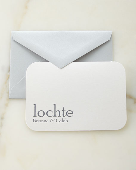 Slate Raised Ink Personalized Cards with Personalized Envelopes