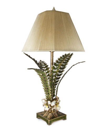 Orchid & Leaf Lamp