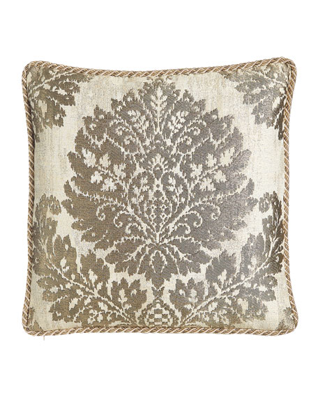 "Austin Horn Collection Reversible Vienna Pillow, 20""Sq."