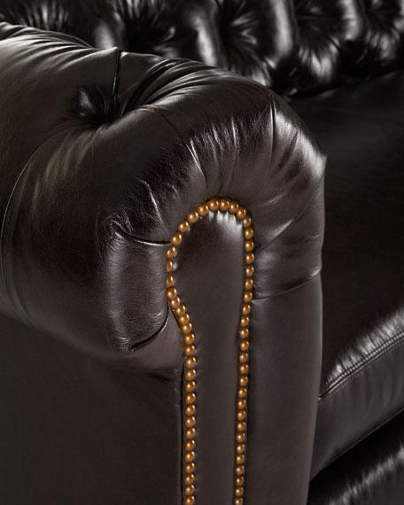 "Massoud Davidson 94"" Slab Seat Chesterfield Sofa"