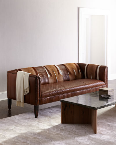 Pierce Hairhide Leather Sofa