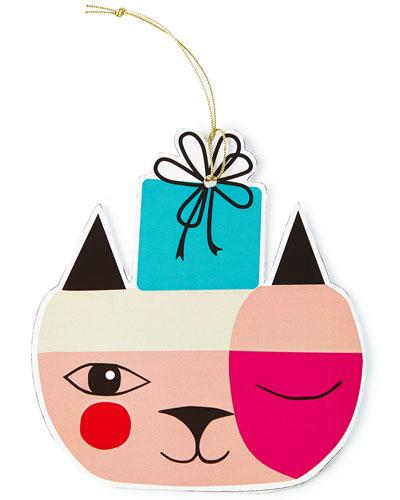 Cat Ornament Tags, Set of 4