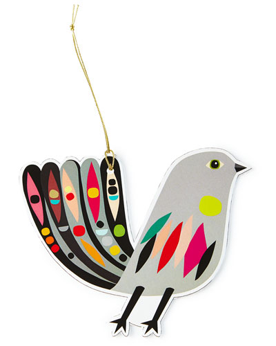 Partridge Ornament Tags, Set of 4