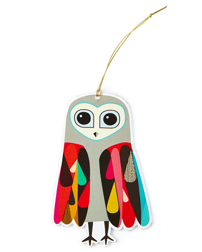 Owl Ornament Tags, Set of 4
