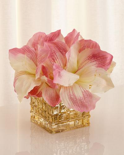 Pink Champagne Faux-Floral Arrangement