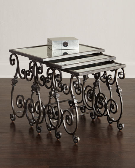 Louise Glass-Top Nesting Tables