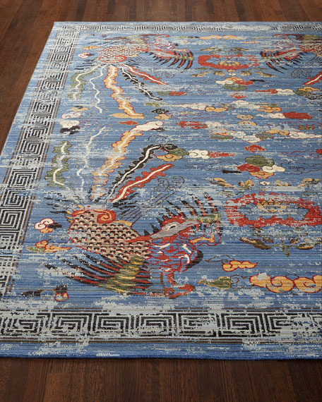 Barclay Butera Imperial Blue Rug, 7'9