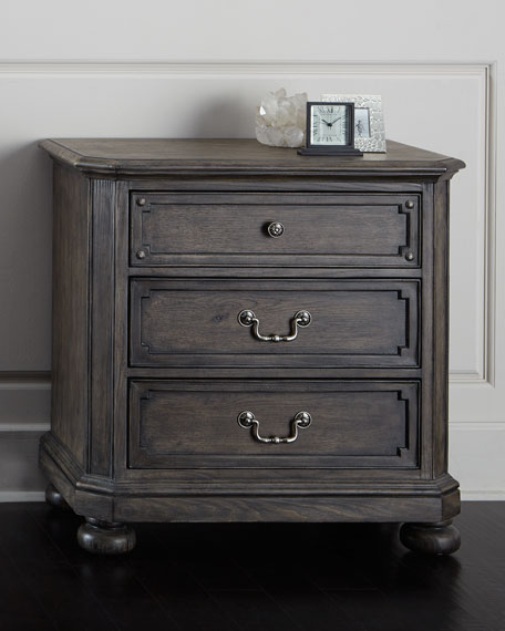 Hooker Furniture Matilda Three-Drawer Nightstand