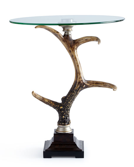 Bronte Glass-Top Side Table