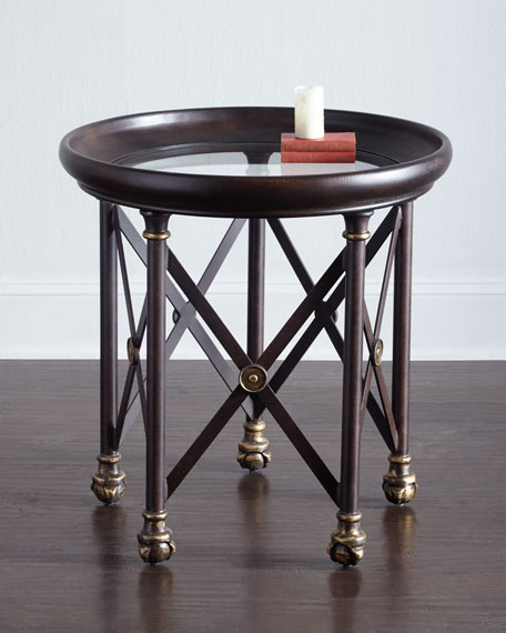 BLAKE GLASS TOP SIDE TABLE