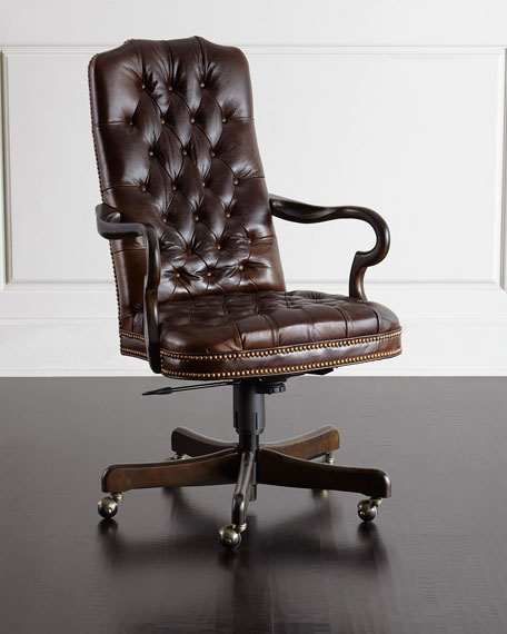 Blevens Tufted Leather Office Chair