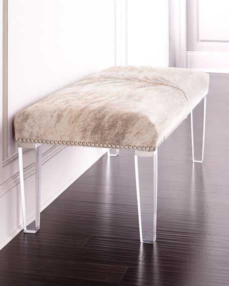 "Massoud Brindle 60""L Hairhide Bench"