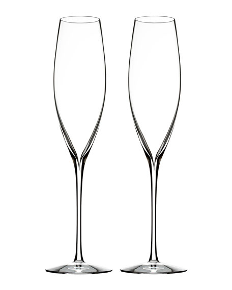 Waterford Crystal Elegance Champagne Flutes, Set of 2