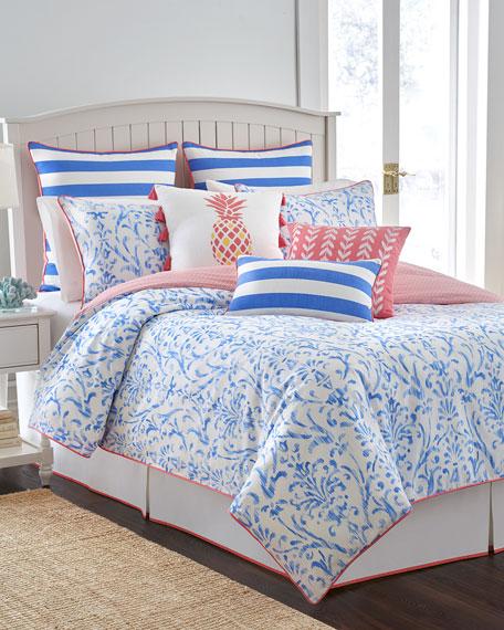 Queen Coastal Ikat 3-Piece Comforter Set