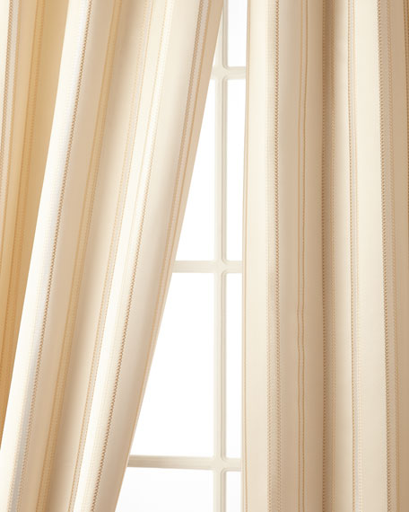 """Austin Horn Collection 52""""W x 96""""L Charlotte Striped Curtain"""