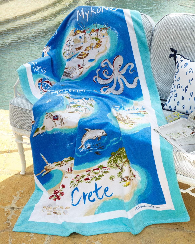 "Ralph Lauren Mens Beach Towel: Ralph Lauren Home Greek Isles Beach Towel, 40"" X 70"