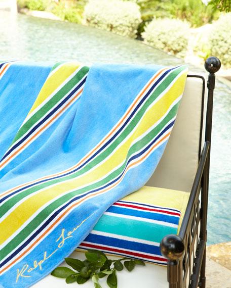 """Ralph Lauren Classic Towels: Ralph Lauren Home Sag Harbor Beach Towel, 40"""" X 70"""""""