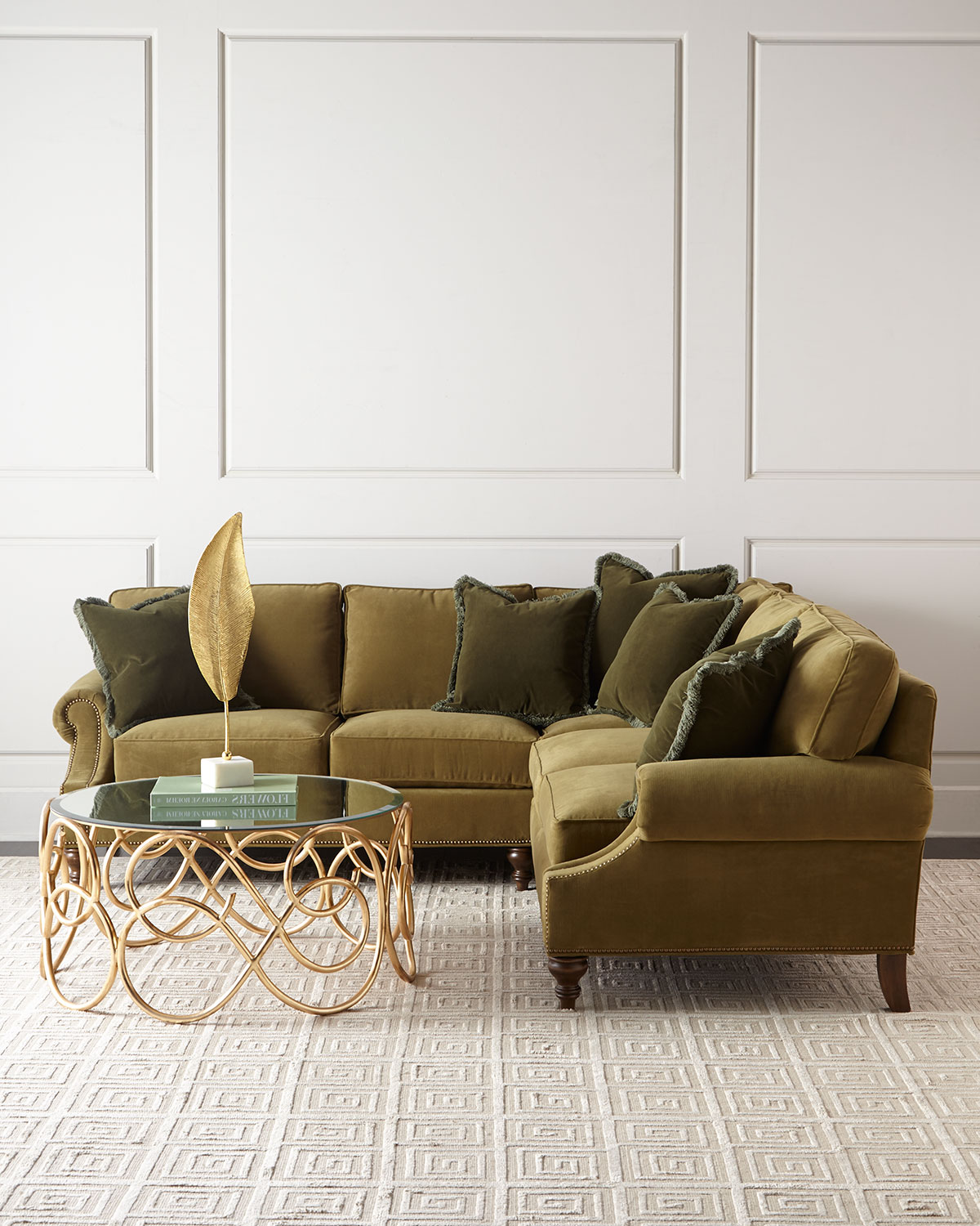 Alix Right Corner Sofa with Left-Facing Loveseat Sectional | Neiman ...