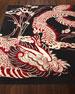 Josie Natori Black Dragon Rug, 9' x 12'