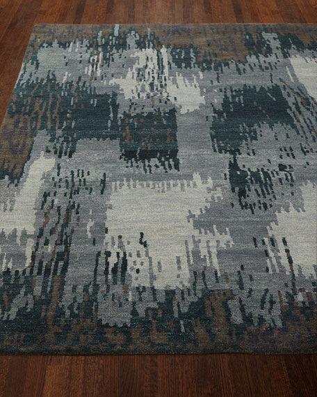 Forest Brushstroke Rug, 5' x 7'