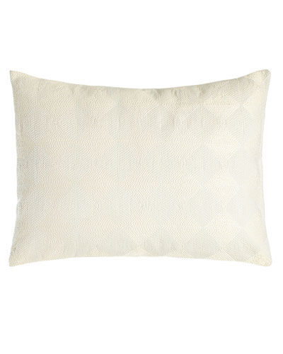 Sti Thread Counthed Concentric Squares Pillow  12 x 16