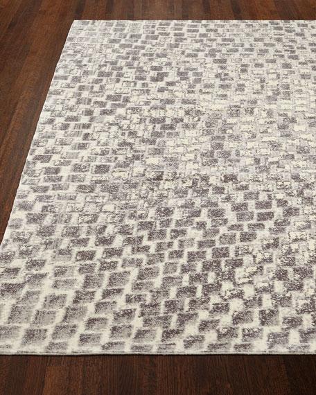 """NourCouture Cream Tile Rug, 5'6"""" x 8'"""